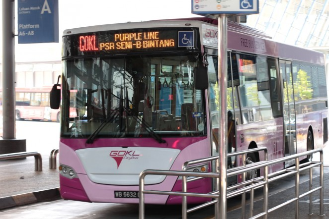 бесплатные автобусы в Куала Лумпуре, Малайзия