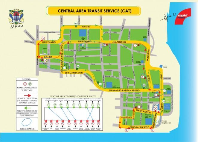 Бесплатные автобусы Джорджтаун, Пенанг
