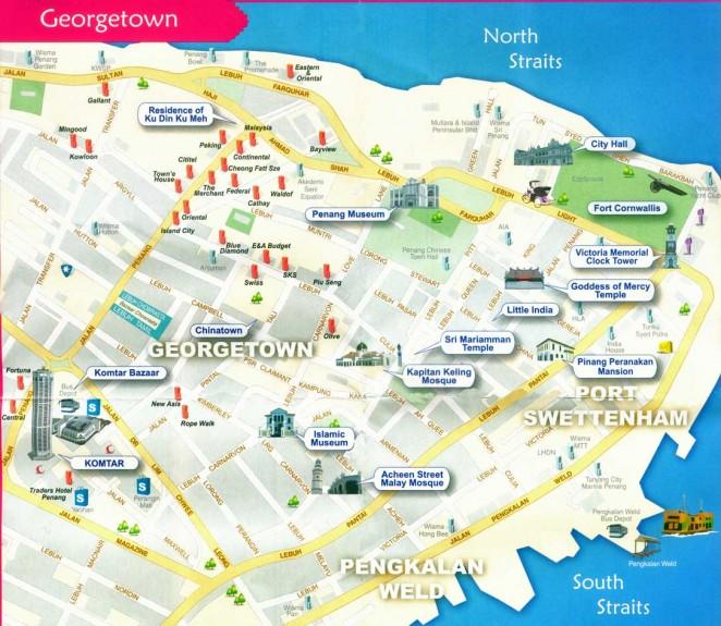 Карта Джорджтауна