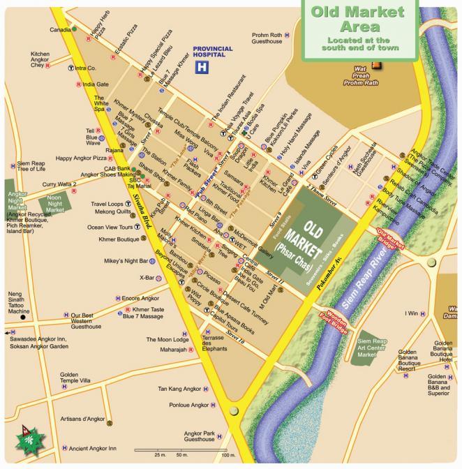 Карта Сием Рипа, центр города