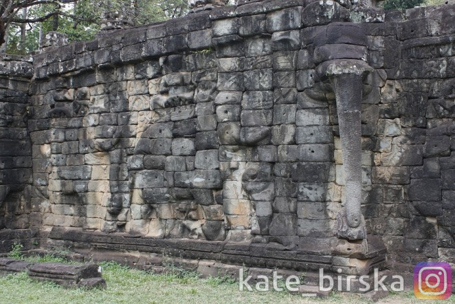 Терраса слонов, Ангкор, Сием Рип, Камбоджа