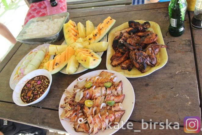 Вкуснейший обед на острове