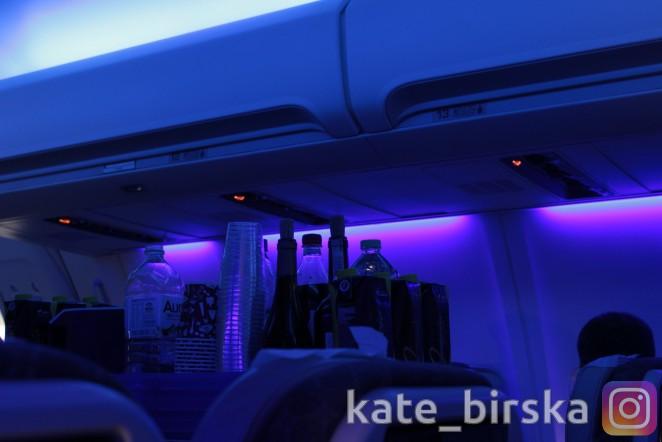 Напитки на борту Air Astana