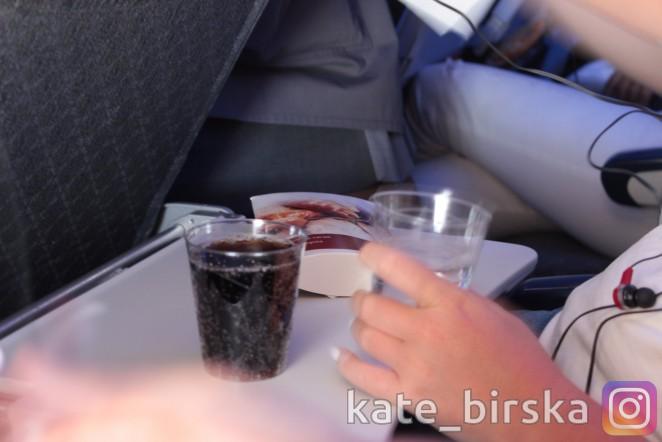 Холодные закуски на борту Air Astana