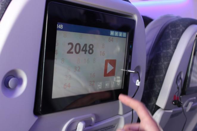 Салон самолета Air Astana