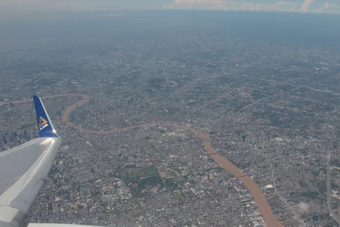 Бангкок из самолета