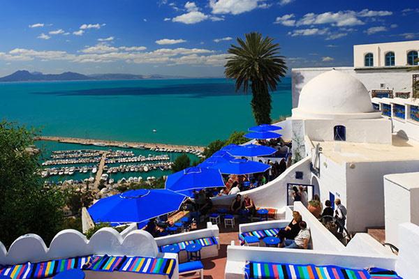 Бело-голубой город, Тунис