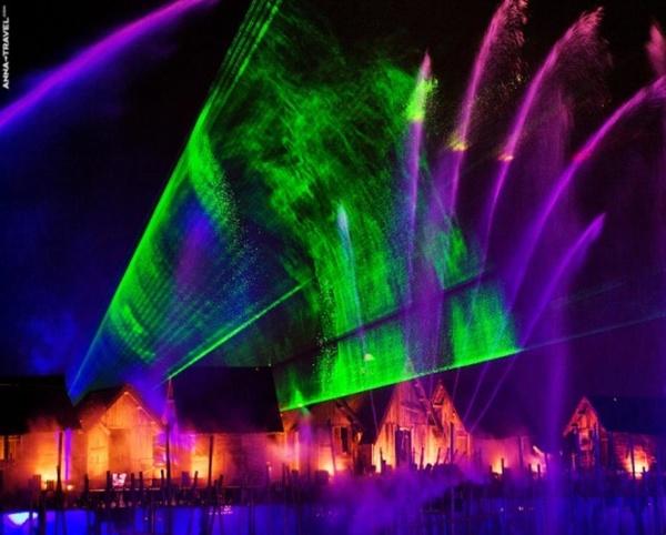 Лазерное шоу в Тунисе