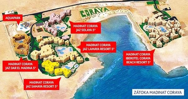 Мадинат Корая карта отелей